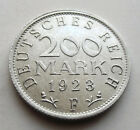 NOTGELD  1923 F  200 MARK  COIN - WEIMARER REPUBLIK