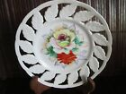 Vintage ENDO China Rose Hand Painted Pierced Collectible Plate Made in Japan