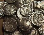 LOT OF 10 MIX 2100 YEARS OLD INDIA WESTERN KSHATRAPAS RARE ANCIENT SILVER COIN