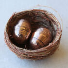 Two Genuine Australian Pennies Handcrafted Eggs in Nest. Weird and Unique.