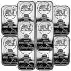 SilverTowne Logo 1oz .999 Fine Silver Bar LOT OF 10 #6774