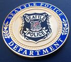 Rare Seattle Washington Police Department Traffic Section Challenge Coin HTF