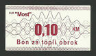 BOSNIA - Food COUPON/BON - Community Restaurant MOST - Banja Luka /early 2000s