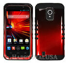 for ZTE Majesty Z796c Metallic Black/Red Cover BLACK Silicone Shock Proof Case