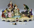 Huge Magnificent Dresden Lace Sitzendorf Figurine Figure Group,Mozart