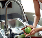 NEW Brushed Nickel Brass Kitchen Faucet Pull Out Sprayer Swivel Sink Mixer Tap