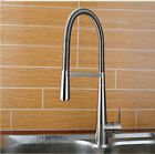 Modern Brushed Nickel Swivel Spout Kitchen Faucet Single Lever Sink Mixer Tap