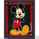 MICKEY MOUSE FABRIC PANEL DISNEY EVERDAY MICKEY RED STRIPE & DOTS BTP  NEW BTP