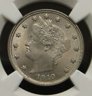 1910 Liberty Head V-Nickel, NGC Certified MS-63