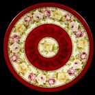 Antique Victorian Bawo Dotter Imperial Crown China Austria Plate Roses 1883-1914