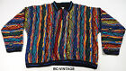 VINTAGE COOGI AUSTRALIA 3D CABLE KNIT 1/4 ZIP SWEATER SHIRT BIGGIE TISA 21129