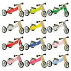 Nicko Mini 2 in 1 Wooden Balance Bike Trike Tricycle Toddler Girl Boy Presents