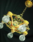 ART DECO ANTIQUA  VICTORIAN CAST METAL CHANDELIER CEILING LIGHT FIXTURE  20's