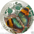 Exotic Butterflies 3D Silver Coin proof Central African Republic  2014