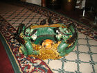 Superb Chinese Or Japanese Majolica Dragon Planter-Pottery-Large Size-Detailed