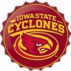 Iowa State Cyclones College Licensed Bottle Top Metal Sign 19 Made In Usa