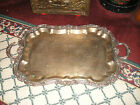 Vintage Sheridan Silver Metal Victorian Serving Tray-VERY LARGE-30
