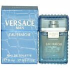 mini cologne * VERSACE MAN EAU FRAICHE for Men * BRAND NEW IN BOX