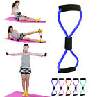 Blue Latex Yoga Fitness 8 Shape Pull Rope Chest Expander Resistance Bands