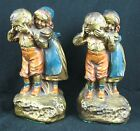 Pair Galvano Children At Play Bronze Clad Bookends Armor Pompeian