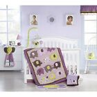 CARTERS ELEPHANT PATCHES 11PC CRIB Bedding Set BUMPER MOBILE Girls Nursery NEW