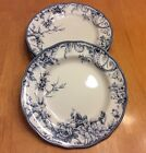 222 Fifth Round Dinner Plates. Adelaide Blue. Set Of 4 Size 11