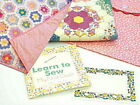 LEARN TO SEW MY FIRST QUILT PINK- Moda Fabric Top & Back Label Binding & Pouch !