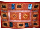 Patchwork Tapestry India patchwork Red Wall Hangings
