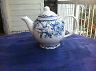 222 FIFTH ADELAIDE BLUE WHITE FRENCH TOILE BIRD FLORAL TEAPOT NEW