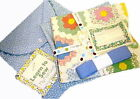 LEARN TO SEW MY FIRST QUILT BLUE- Moda Fabric Top & Back Label Binding & Pouch !