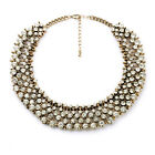 New ZARA Golden Crystal Cluster Chains Nobby Royal Fashion Bib Collar Necklaces
