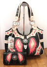 MONTANA WEST WESTERN INSPIRED COWGIRL BLING PURSE AND WALLET SET RHINESTONES NEW