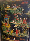 Antique Four Panel Japanese Handpainted Wallpaper Screen