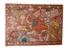 Embroidered Wall Hangings Brown Sari Patchwork Tapestry