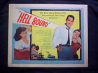 HELL BOUND Lobby card set JOHN RUSSELL JUNE BLAIR 1957