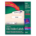 Avery White File Folder Labels Laser Ink Jet 1 3 cut 1500 Template 5366