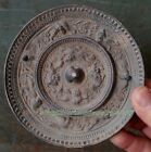 Collectables! Antiques Dynasty Old Chinese Bronze mirror Statue 12cm