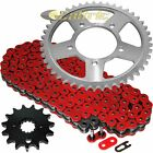 Red O-Ring Drive Chain & Sprockets Kit Fits SUZUKI GSX750F Katana 750 1998-06
