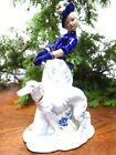 A282 KPM Berlin Vintage figure lady with dog beautiful porcelain/doll Post-1940