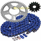 Blue O-Ring Drive Chain & Sprockets Kit Fits SUZUKI GSX750F Katana 750 1998-06