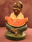 Vintage Black Americana Boy Watermelon Heavy Cast Iron Paper Weight Way Down Som