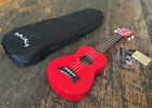 Makala Candy Apple Red Soprano Dolphin Ukulele Uke Fitted With Aquila Strings