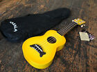 Makala Yellow Burst Soprano Dolphin Ukulele Uke Fitted With Aquila Strings
