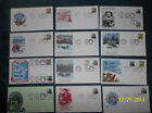 12 1986 1st day issue CHRISTMAS STAMPS, COVERS with RARE CHRISTMAS IN HAWII #22