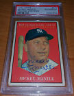 Mickey Mantle signed auto 1961 Topps 1956 & 1957 MVP #475 PSA DNA autographed