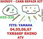 SHINDY CARB  CARBURETOR REPAIR KIT YAMAHA 04 05 06 07 YXR660F RHINO #03-328