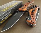 TAC FORCE Speedster Assisted Opening RED CAMO Glass Breaker Rescue Knife NEW!!