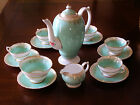 Copelands Grosvenor Demitasse Tea Coffee Pot Set. Hand Painted Service for 5