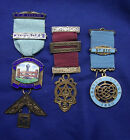COLLECTION OF THREE STERLING SILVER MASONIC MEDALS