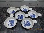 6- VTG HTF Blue Willow Pantry Collection Heritage Mint Lugged Soup/Cereal Bowl